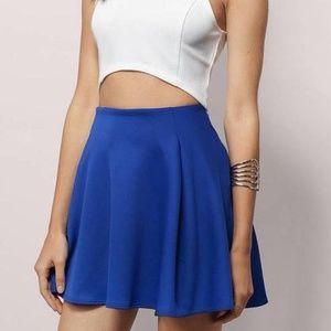 Royal Blue High Waisted Flowy Skirt